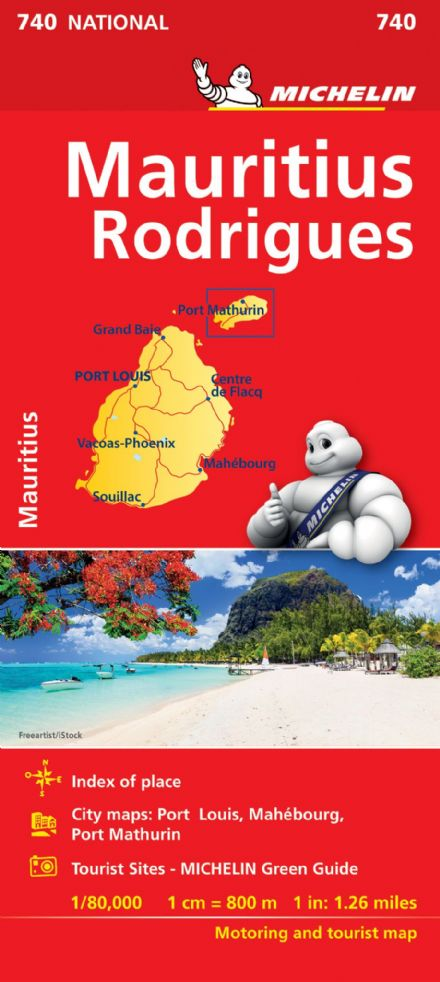 Mauritius - Michelin National Map 740